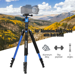 """ZOMEi Q555 62"""" Aluminum Tripod Compact Stand Support For Nikon Canon DSLR Camera"""