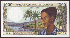 COMOROS ISLANDS   1000 Francs  ND (1986)    UNC