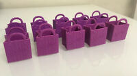 LOT of 10 Moose SHOPKINS Purple Bags, Season 2, shopping bags ONLY Free Shipping