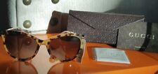 GUCCI GG3771S Oversized Cat Eye Bamboo Temple Sunglasses with Case(NewGenuine)