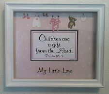 """New Bible Verse Plaques/Signs """"CHILDREN ARE A GIFT FROM THE LORD""""Girls~Christian"""