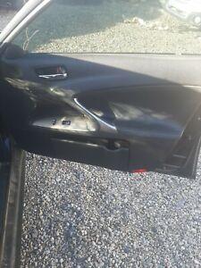 06-13 LEXUS IS250 IS350 SEDAN RIGHT PASSENGER SIDE FRONT DOOR PANEL BLACK OEM