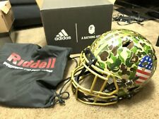 Bape x Adidas Riddell Football Helmet Green Camo Superbowl