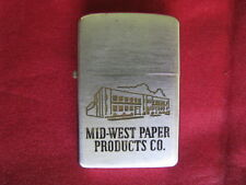 Zippo Lighter 1956 Advertising Mid-West Paper Products Co.