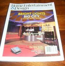 Robb Report Home Entertainment & Design Bright Lights Big City April/May 2003