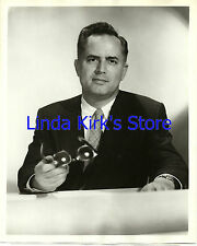 """Dr Bergen Evans Photograph Seated No Smile """"Down You Go"""" Game Show ABC-TV 1950s"""