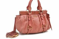 Authentic MIU MIU Leather 2way Shoulder Hand Bag Pink 83349