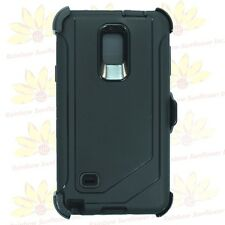 For Samsung Galaxy Note 4 Case Cover W/Screen(Clip Fits Otterbox Defender)BLACK