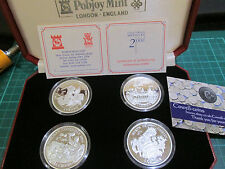 1997 Isle of Man 2000 MILLENIUM CELEBRATION Stering silver proof 4 coin set