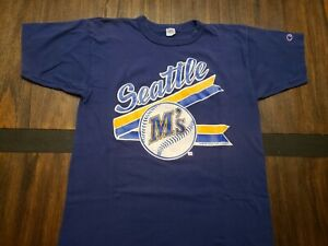 Vintage 1980s Seattle Mariners MLB Champion 1989 T shirt size L