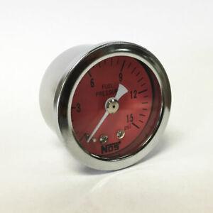 "NOS 1.5"" Direct Mount Low Pressure Fuel Pressure Gauge, 0-15 PSI (New Old Stock)"