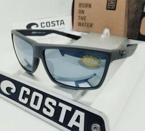 COSTA DEL MAR matte gray/silver mirror RINCONCITO POLARIZED 580P sunglasses NEW!