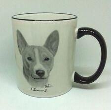 Basenji Dog Coffee Mug Cup White Black Gray Vladimir Porcelain by Rosalinde Usa
