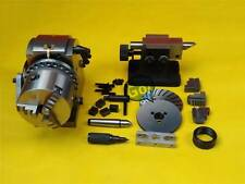 BS-0 ECO Precision Universal Dividing Head Tailstock Spindle w/ 5'' 3 JAW CHUCK