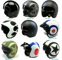 VIPER RS-V06 OPEN FACE SCOOTER MOTORCYCLE JET RETRO HELMET MOD ALL SIZES COLOURS