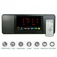 B16 LCD Bluetooth Wireless 10W Lautsprecher Timer Akku mit TF USB, AUX, FM Radio