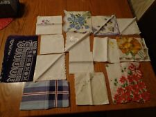 Lot of 14 Floral, Christmas, Cotton, NICE hand hankies