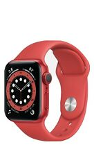 Apple Watch Series 6 40mm Aluminum Case Red Sport Band Smart Watch - (M00A3LLA)