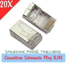 20X Plug RJ45 schermato conector RJ45 per cavo lan ethernet plug RJ 45 internet