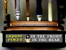 11 Beer tap handle display Liquor In Front Poker In Rear Led Bar Sign