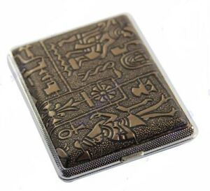 High Quality Vintage Style Metallic Cigarette Case/Holder Medium Size