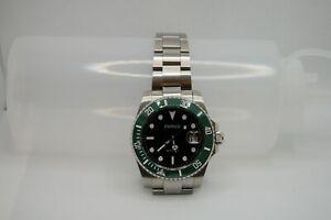 Parnis Automatic 40mm Miyota 8215 Movement Dive Watch Green Bezel