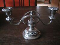 edler 2arm Kerzenständer Kerzenhalter Kandelaber silber plated Ianthe of England