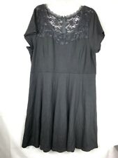 f8290c106c81 TORRID Women s Mesh Illusion Swing Dress size 24 Black Lace Short Sleeve 55
