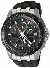 Citizen JY8051-08E Eco-Drive Skyhawk At Black Dial Green Accent Rubber Watch