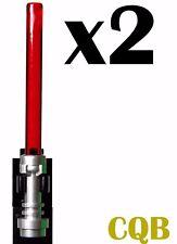NEW LEGO - Weapon -  Star Wars - Light Saber x2 Trans Red - GENUINE LEGO