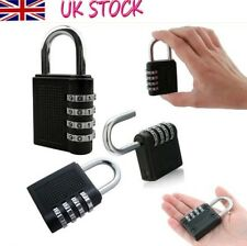 New Weatherproof Security Padlock Outdoor Heavy Duty 4-Digit Combination Lock.