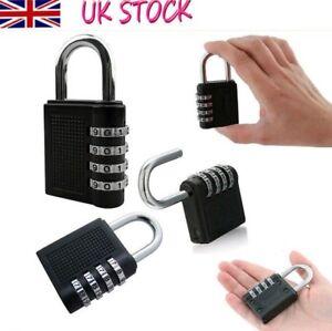 New Weatherproof Security Padlock Outdoor Heavy Duty 4-Digit Combination Lock