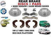 pour VW LT II 96-06 BUS Box Van ENSEMBLE DISQUES DE FREIN ARRIÈRE+Kit Plaquettes