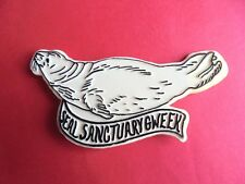 Vintage Gweek Seal Sanctuary Cornwall England Plastic Souvenir Badge Pin