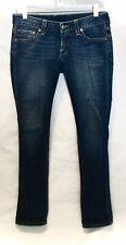 Womens~Lucky Brand~Denim Blue Jeans~Lola Straight Run Stitch~Size 2/26~Euc