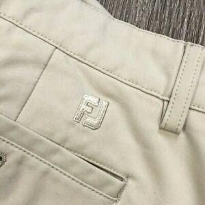 12/3 Mens Footjoy FJ Performance Flat Front Golf Pants Size 33x32 Beige