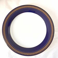 "Romanov Collection Genuine Cobalt Gold 8 3/8"" Salad Luncheon Dessert Plate Dish"