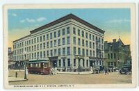 Dickinson House Trolley New York Central Railroad Station CORNING NY Postcard