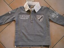 (H932) Joe Black Boys Langarm Polo Shirt mit Logo Stickerei & Aufnähern gr.104