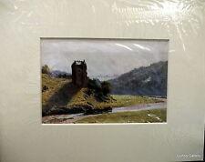 Vintage Print Sutton Palmer mounted to frame c1912 Neidpath Castle Peeblesshire