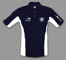 Neu BMW M power Herren Polo shirt mit gestickte logos, Blau, S-3XL