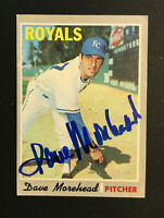 Dave Morehead Royals signed 1970 Topps baseball card #495 Auto Autograph