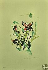 ERNESTO TRECCANI litografia FIORI 50x35 firmata numerata 125 es