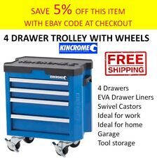 Kincrome MINI TOOL BOX CHEST TROLLEY Toolbox Cabinet Storage Portable Drawer