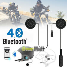 Motorbike Helmet Bluetooth Headset With Microphone Speaker Headphone For Riders