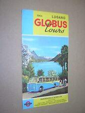 COACH BUS TOUR BROCHURE 1964.  LUGANO. GLOBUS TOURS. COLOUR ILLUSTRATED