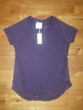 NWT Women's Plum TANGERINE Stretchy Crochet Back Detail Blouse Top Size SMALL S