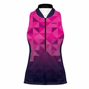 Primal Wear Trimotif Purple Women's Racerback Sleeveless Cycling Jersey