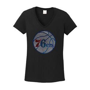 Women's Philadelphia 76ers spangle t shirt tee lot of sparkle ladies