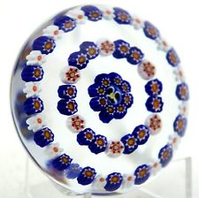 Stunning PARABELLE Colorful CONCENTRIC MILLEFIORI CANES Art Glass PAPERWEIGHT